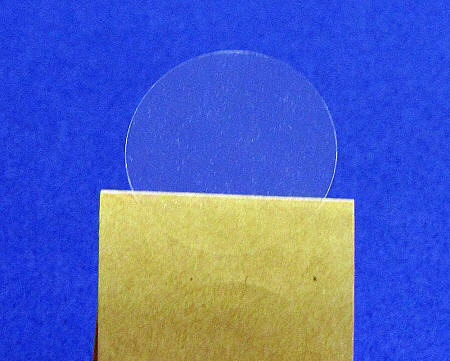 1 inch clear round labels